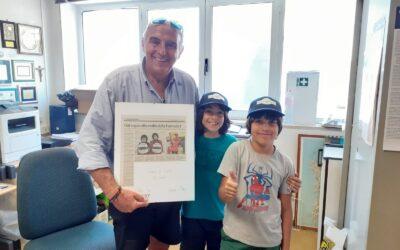 I due Grid Kids sardi ringraziano AciSport